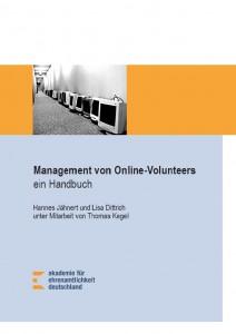 """Cover des Handbuch """"Management von Online-Volunteers"""""""