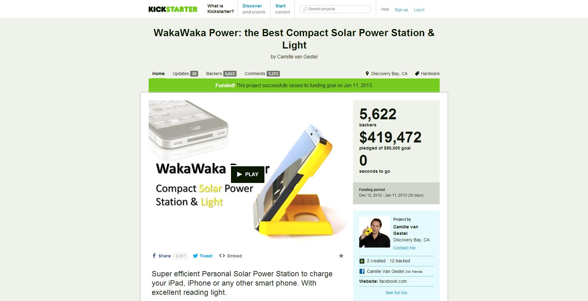 WakaWakaKickstarter