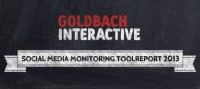 Social Media Monitoring Toolreport 2013 von Goldbach Interactive
