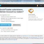 2. Schritt: Authentifzierung mit einem Sozialen Netzwerk (hier: Twitter)