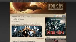 Screenshot Startseite Iron Sky